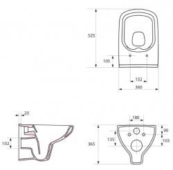 AKCE/SET/VIEGA - SET MONO modul WC čelní ovládání + ovládací tlačítko BÍLÉ + WC CERSANIT COLOUR CLEANON + SEDÁTKO (V606732BI CN1), fotografie 16/9