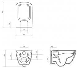 AKCE/SET/VIEGA - SET MONO modul WC čelní ovládání + ovládací tlačítko BÍLÉ + WC OPOCZNO METROPOLITAN CLEANON + SEDÁTKO (V606732BI ME1), fotografie 14/8