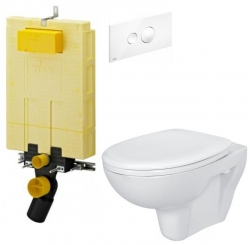 AKCE/SET/VIEGA - SET MONO modul WC čelní ovládání + ovládací tlačítko BÍLÉ + WC CERSANIT PRESIDENT + SEDÁTKO (V606732BI PR1)