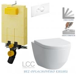 AKCE/SET/VIEGA - SET MONO modul WC čelní ovládání + ovládací tlačítko BÍLÉ + WC LAUFEN PRO LCC RIMLESS + SEDÁTKO (V606732BI LP2)