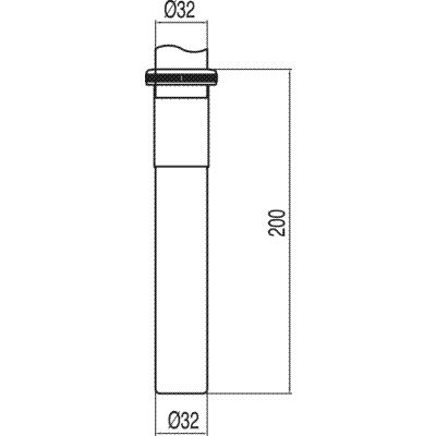 TRES - Nástavec na lahvový sifon (913463320)