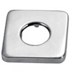 Čtvercová kovová rozetavnější rozměry 65x65, vnitřní rozměry O32, výška 13mm (913474410) - TRES