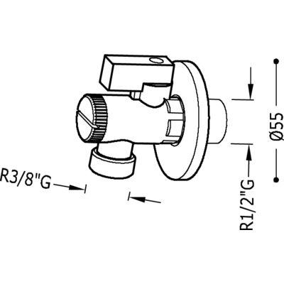"TRES - Uzavírací ventil s filtremR.1/2"" - R.3/8"" (9134525)"