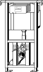 AKCE/SET/VIEGA - Eko PLUS modul do jádra WC čelní ovládání  SET BÍLÉ + ovládací tlačítko BÍLÉ + WC CERSANIT CREA ČTVEREC CLEANON + SEDÁTKO (V622176BI CR2), fotografie 16/9