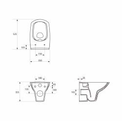 AKCE/SET/VIEGA - Eko PLUS modul do jádra WC čelní ovládání  SET CHROM + ovládací tlačítko CHROM + WC CERSANIT CARINA CLEANON + SETÁTKO (V622176CR CA1), fotografie 20/10