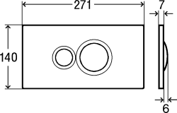 AKCE/SET/VIEGA - Eko PLUS modul do jádra WC čelní ovládání  SET CHROM + ovládací tlačítko CHROM + WC CERSANIT CREA OVÁL CLEANON + SEDÁTKO (V622176CR CR1), fotografie 10/10