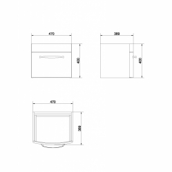 AKCE/SET/CERSANIT - Set skříňka + umyvadlo  (S910-011 + K101-010), fotografie 8/6