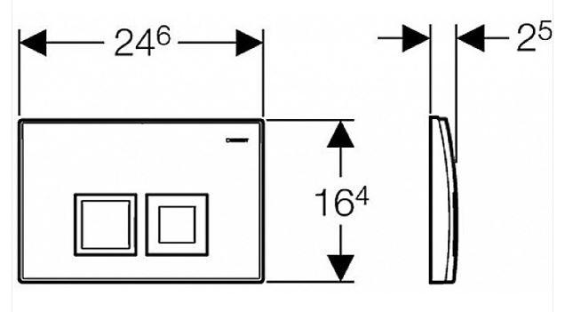 AKCE/SET/GEBERIT - Duofix Sada pro závěsné WC 458.103.00.1 + tlačítko DELTA50 CHROM + WC CERSANIT CREA ČTVEREC CLEANON + SEDÁTKO (458.103.00.1 50CR CR2), fotografie 18/9