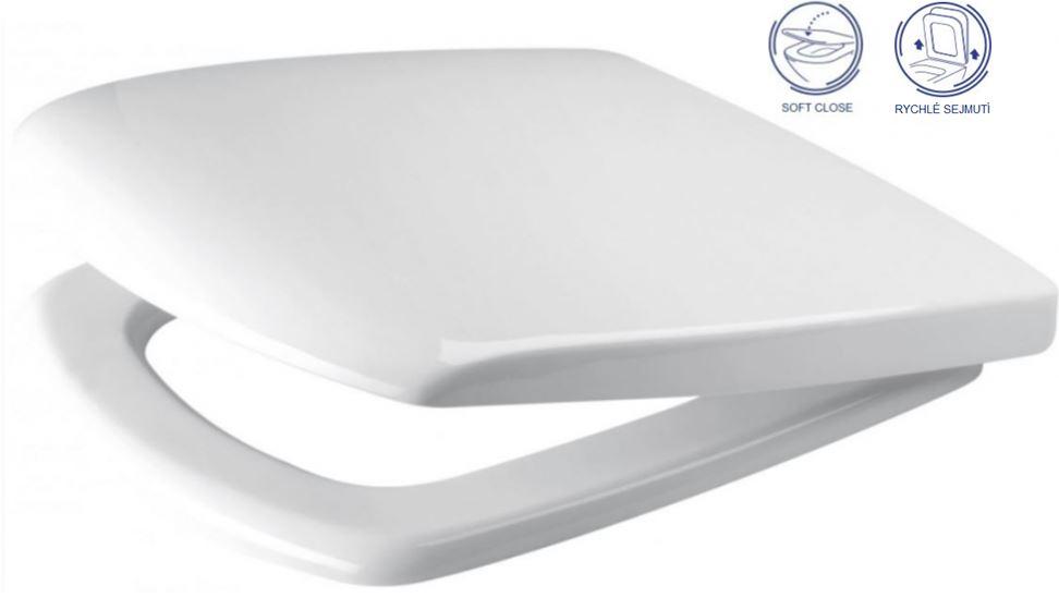AKCE/SET/GEBERIT - Duofix Sada pro závěsné WC 458.103.00.1 + tlačítko DELTA50 bílé + WC CERSANIT CARINA CLEANON + SEDÁTKO (458.103.00.1 50BI CA2), fotografie 16/9