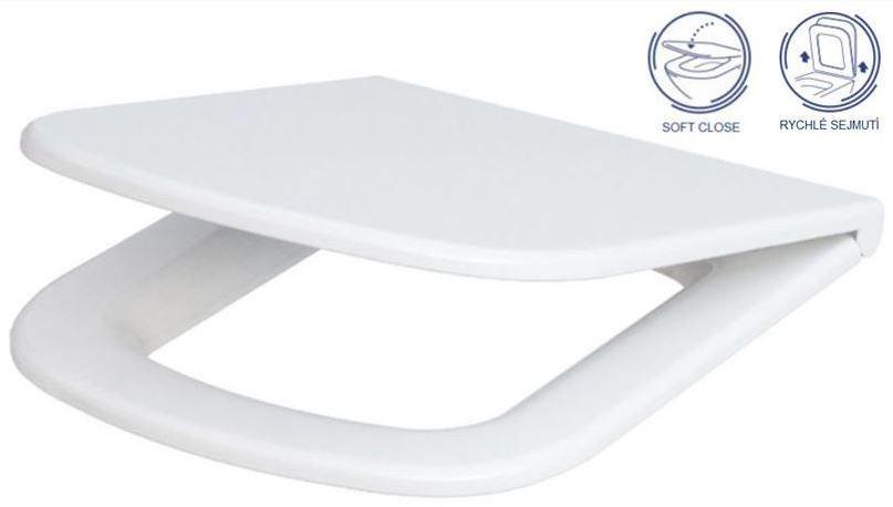AKCE/SET/GEBERIT - Duofix Sada pro závěsné WC 458.103.00.1 + tlačítko DELTA50 bílé + WC CERSANIT COLOUR CLEANON + SEDÁTKO (458.103.00.1 50BI CN1), fotografie 16/9