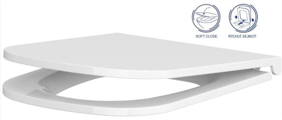 AKCE/SET/GEBERIT - Duofix Sada pro závěsné WC 458.103.00.1 + tlačítko DELTA50 bílé + WC  CERSANIT CASPIA CLEANON + SEDÁTKO (458.103.00.1 50BI CP1), fotografie 18/9