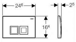 AKCE/SET/GEBERIT - Duofix Sada pro závěsné WC 458.103.00.1  + tlačítko DELTA50 bílé + WC CERSANIT CREA ČTVEREC CLEANON + SEDÁTKO (458.103.00.1 50BI CR2), fotografie 18/9