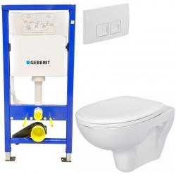 AKCE/SET/GEBERIT - Duofix Sada pro závěsné WC 458.103.00.1+ tlačítko DELTA50 bílé + WC  CERSANIT PRESIDENT + SEDÁTKO (458.103.00.1 50BI PR1)