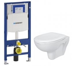 AKCE/SET/GEBERIT - SET Duofix pro závěsné WC 111.300.00.5 bez ovládací desky + WC CERSANIT PRESIDENT + SEDÁTKO (111.300.00.5 PR1)