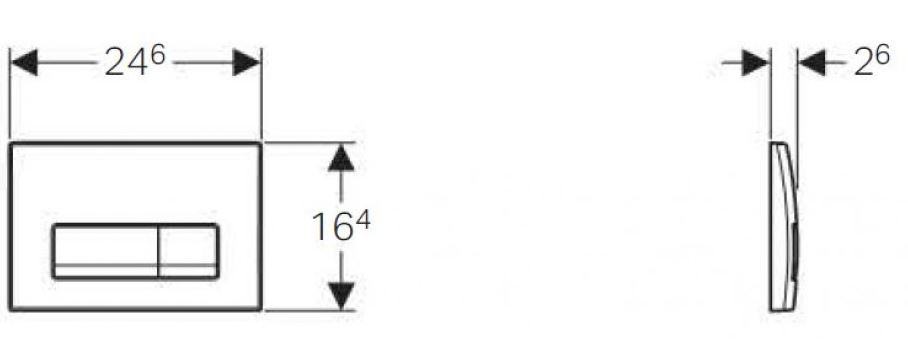 AKCE/SET/GEBERIT - Duofix Sada pro závěsné WC 458.103.00.1  + tlačítko DELTA51 CHROM + WC LAUFEN PRO RIMLESS + SEDÁTKO (458.103.00.1 LP1), fotografie 18/9