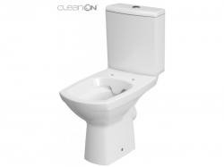 CERSANIT - WC KOMBI 482 CARINA NEW CLEAN ON 010  3/5l + sedátko duraplast soft close (K31-044), fotografie 6/4