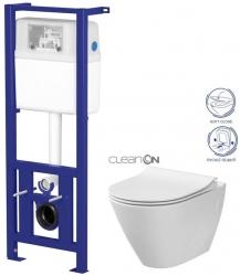 Nádržka LINK + WC CITY CLEANON + SEDÁTKO (K97-108 CI1) - AKCE/SET/CERSANIT