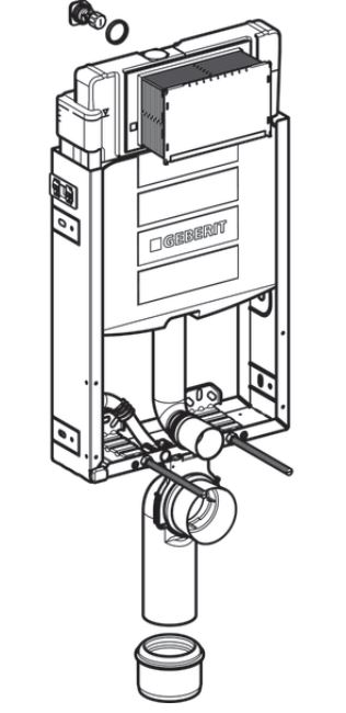 AKCE/SET/GEBERIT - Kombifix KOMBIFIX ECO pro závěsné WC, nádržka UP 320 bez Ovládací desky + WC CERSANIT CARINA CLEANON + SEDÁTKO (110.302.00.5 CA3), fotografie 4/8