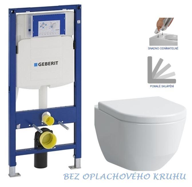 AKCE/SET/GEBERIT - Duofix pro závěsné WC 111.300.00.5 bez ovládaví desky + WC LAUFEN PRO RIMLESS + SEDÁTKO 111.300.00.5 LP1