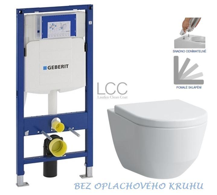 AKCE/SET/GEBERIT - Duofix pro závěsné WC 111.300.00.5 bez ovládaví desky + WC LAUFEN PRO LCC RIMLESS + SEDÁTKO 111.300.00.5 LP2