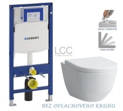 AKCE/SET/GEBERIT - SET Duofix pro závěsné WC 111.300.00.5 bez ovládací desky + WC LAUFEN PRO LCC RIMLESS + SEDÁTKO (111.300.00.5 LP2)