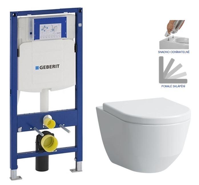 AKCE/SET/GEBERIT - Duofix pro závěsné WC 111.300.00.5 bez ovládaví desky + WC LAUFEN PRO + SEDÁTKO (111.300.00.5 LP3)
