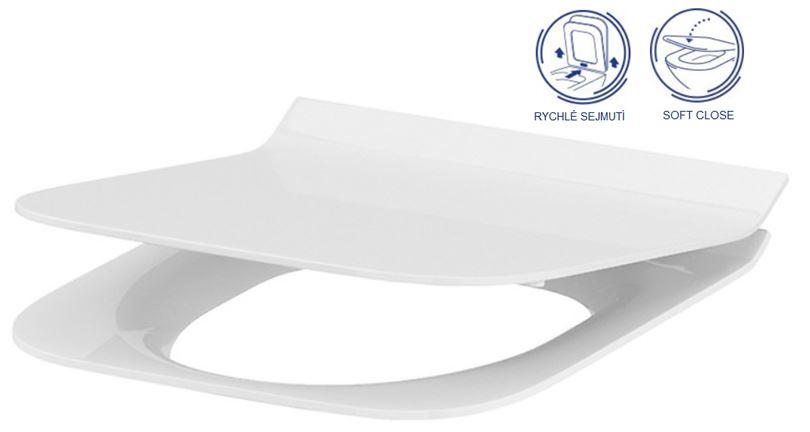 AKCE/SET/GEBERIT - Duofix Sada pro závěsné WC 458.103.00.1 + tlačítko DELTA21 bílé + WC CERSANIT CREA ČTVEREC CLEANON + SEDÁTKO (458.103.00.1 21BI CR2), fotografie 6/9