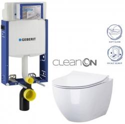 SET Kombifix KOMBIFIX ECO pro závěsné WC, nádržka UP 320 bez Ovládací desky + WC OPOCZNO URBAN HARMONY CLEANON + SEDÁTKO (110.302.00.5 HA1) - AKCE/SET/GEBERIT