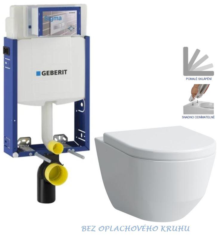 AKCE/SET/GEBERIT Kombifix KOMBIFIX ECO pro závěsné WC, nádržka UP 320 bez Ovládací desky + WC LAUFEN PRO RIMLESS + SEDÁTKO 110.302.00.5 LP1