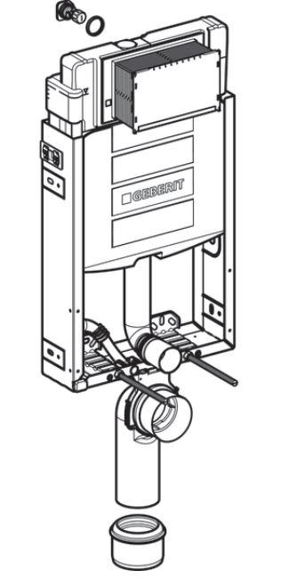 AKCE/SET/GEBERIT - Kombifix KOMBIFIX ECO pro závěsné WC, nádržka UP 320 bez Ovládací desky + WC LAUFEN PRO LCC RIMLESS + SEDÁTKO (110.302.00.5 LP2), fotografie 4/10