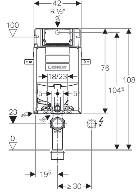 AKCE/SET/GEBERIT - Kombifix KOMBIFIX ECO pro závěsné WC, nádržka UP 320 bez Ovládací desky + WC LAUFEN PRO LCC RIMLESS + SEDÁTKO (110.302.00.5 LP2), fotografie 6/10