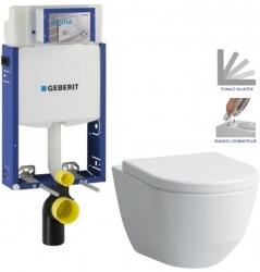 AKCE/SET/GEBERIT - SET Kombifix KOMBIFIX ECO pro závěsné WC, nádržka UP 320 bez Ovládací desky + WC LAUFEN PRO + SEDÁTKO (110.302.00.5 LP3)