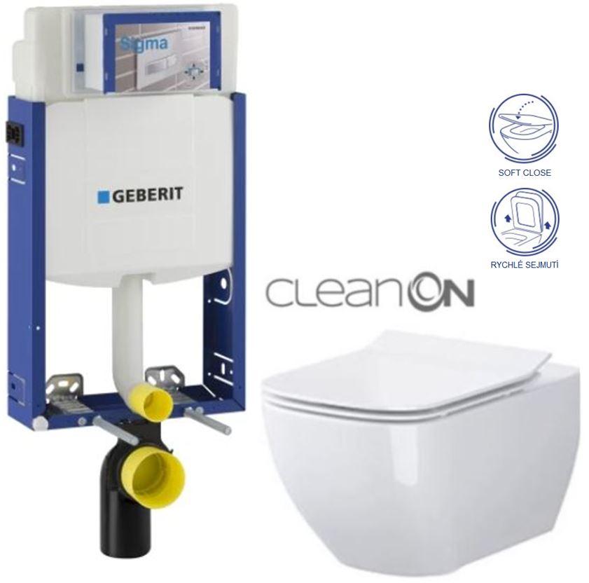 AKCE/SET/GEBERIT - Kombifix KOMBIFIX ECO pro závěsné WC, nádržka UP 320 bez Ovládací desky + WC OPOCZNO METROPOLITAN CLEANON + SEDÁTKO (110.302.00.5 ME1)
