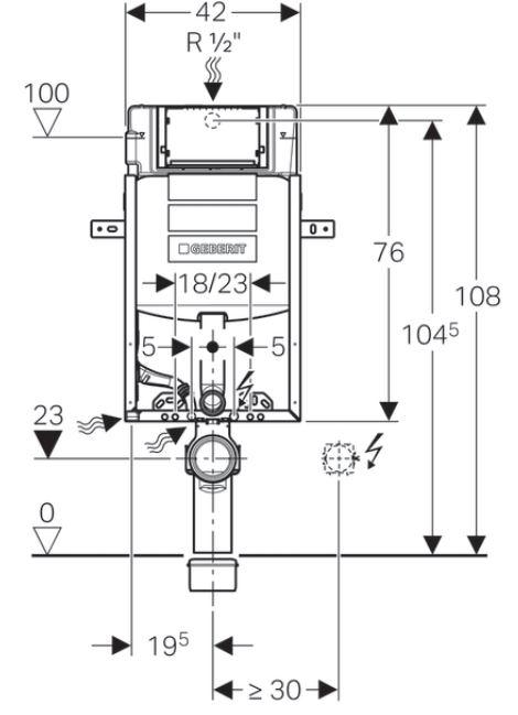 AKCE/SET/GEBERIT - Kombifix KOMBIFIX ECO pro závěsné WC, nádržka UP 320 bez Ovládací desky + WC CERSANIT MITO + SEDÁTKO (110.302.00.5 MI1), fotografie 6/16