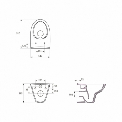 AKCE/SET/GEBERIT - SET Kombifix KOMBIFIX ECO pro závěsné WC, nádržka UP 320 bez Ovládací desky + WC CERSANIT PARVA CLEANON + SEDÁTKO (110.302.00.5 PA2), fotografie 12/8