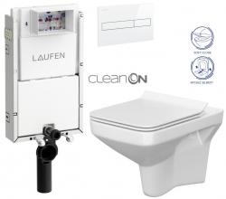 AKCE/SET/LAUFEN - Podomít. systém LIS TW1 SET BÍLÁ + ovládací tlačítko BÍLÉ + WC CERSANIT COMO CLEANON + SEDÁTKO (H8946630000001BI CO1)