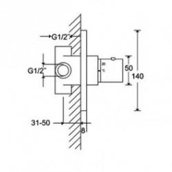 STEINBERG - Univerzální podomítkové těleso pro termostatické baterie (016 4200), fotografie 2/1