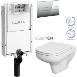 AKCE/SET/LAUFEN - Podomít. systém LIS TW1 SET + ovládací tlačítko CHROM + WC CERSANIT COLOUR CLEANON + SEDÁTKO (H8946630000001CR CN1)