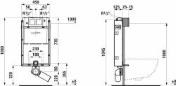 AKCE/SET/LAUFEN - Podomít. systém LIS TW1 SET + ovládací tlačítko CHROM + WC CERSANIT CREA ČTVEREC CLEANON + SEDÁTKO (H8946630000001CR CR2), fotografie 16/10