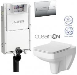 AKCE/SET/LAUFEN - Podomít. systém LIS TW1 SET + ovládací tlačítko CHROM + WC CERSANIT SPLENDOUR CLEANON + SEDÁTKO (H8946630000001CR SP1)