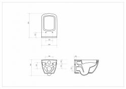 AKCE/SET/LAUFEN - Rámový podomítkový modul CW1  SET + ovládací tlačítko CHROM + WC OPOCZNO METROPOLITAN CLEANON + SEDÁTKO (H8946600000001CR ME1), fotografie 10/9