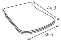 AKCE/SET/LAUFEN - Rámový podomítkový modul CW1  SET + ovládací tlačítko CHROM + WC OPOCZNO METROPOLITAN CLEANON + SEDÁTKO (H8946600000001CR ME1), fotografie 12/9