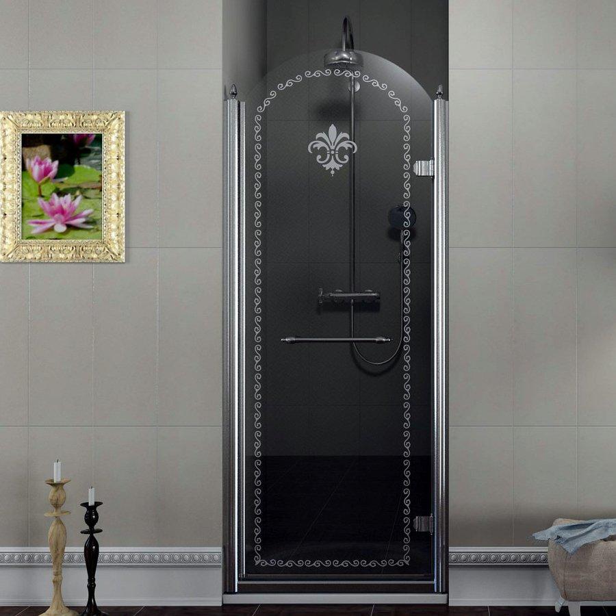 GELCO - ANTIQUE sprchové dveře 800mm, pravé, čiré sklo s dekorem, chrom (GQ1680R)