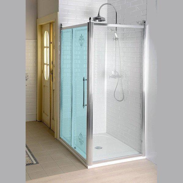 GELCO - ANTIQUE boční stěna 1000mm, čiré sklo s dekorem, chrom (GQ5110)
