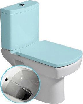 KALE - BASIC wc mísa kombi s integrovaným bidetem, spodní/zadní odpad, 35x61cm (71122340)