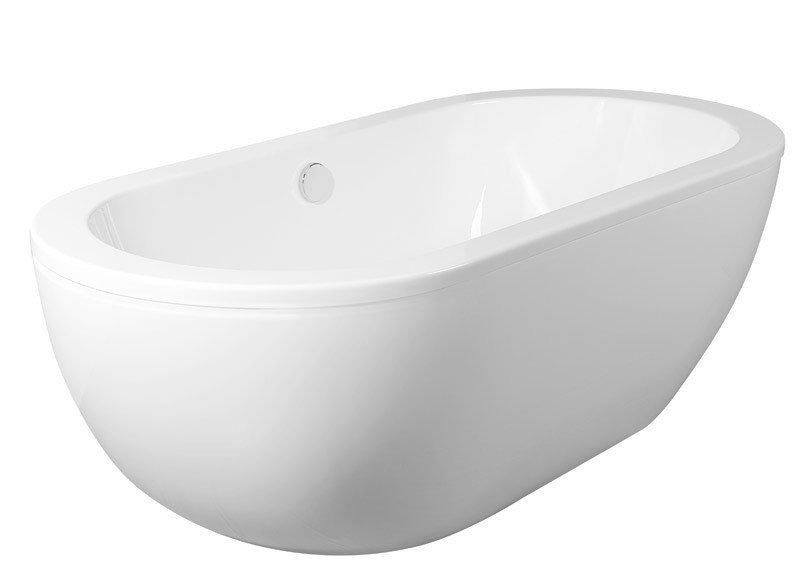 AQUALINE - BLANICE volně stojící vana 181x86x59 cm, bílá, 295l (G7800)