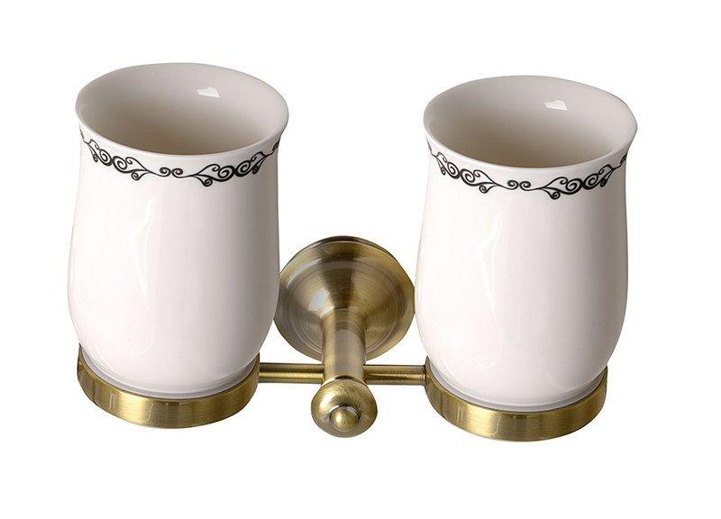 SAPHO - ASTOR dvojitý držák skleniček, bronz (1326-05)