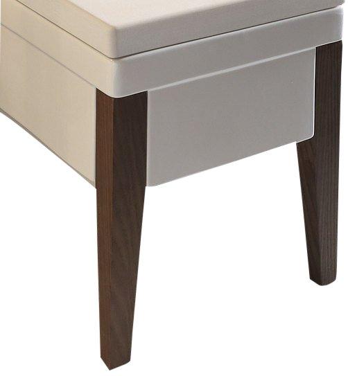 KERASAN - BENTLEY dřevěné nohy k závěsnému WC a bidetu, pár, frassino scuro (917047)