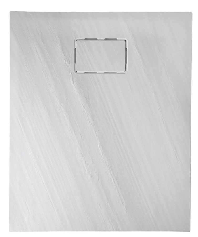 SAPHO - ATIKA sprchová vanička z litého mramoru, obdélník 120x80x3,5cm, bílá,dekor kámen (AK004)