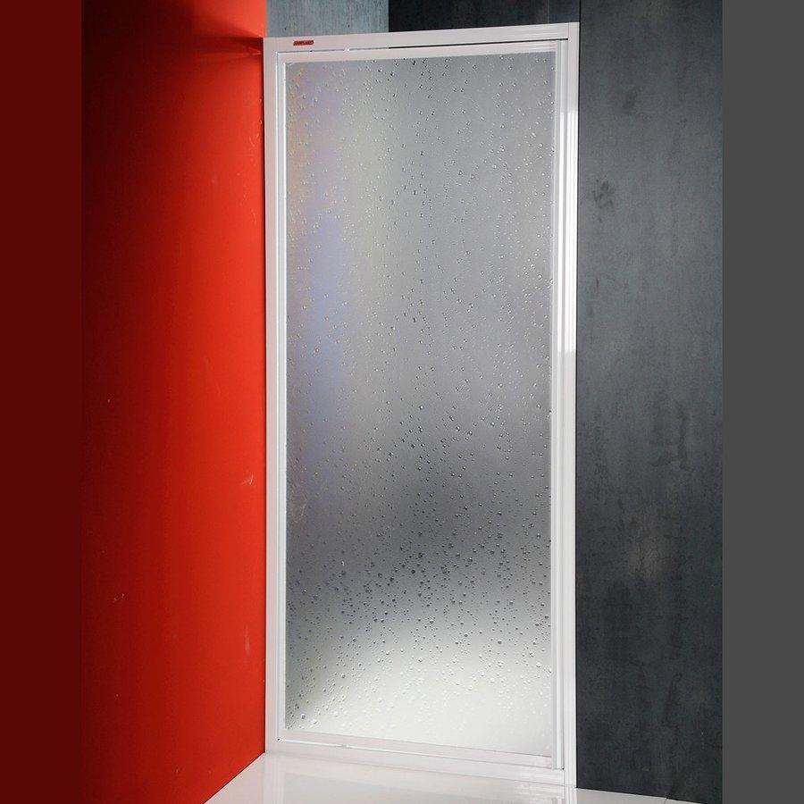 DJ sprchové dveře výkyvné 900mm, bílý profil, polystyren výplň (DJ-C-90) Aqualine